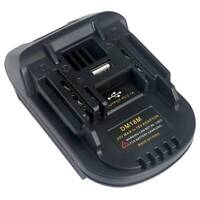 Portable Battery Adapter For DM18M Milwaukee Convert to MAKITA Battery Daily Use