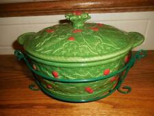 NEW Temp-tations 2 Qt Holly Casserole Baking Dish Baker w/ Wire Rack 766544
