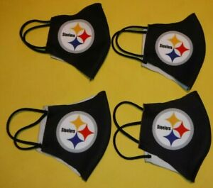 PITTSBURGH STEELERS FACEMASKS LOT DYE SUBLIMATED LOGO MASK LOT OF 4