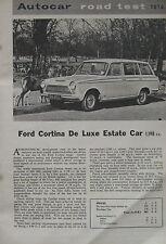 1963 Ford Cortina De Luxe Estate Autocar magazine Road test