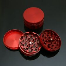 "NEW 2"" 3pc Metal Hand Muller Herb Spice Tobacco Grinder Crusher Red"
