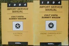 1994 Dodge Colt Vista Summit Wagon Shop Service Manual Vol 1 2 Set