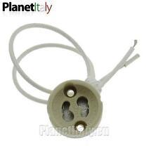5pz portalampada in ceramica attacco lampada GU10 220V GZ10 led alogena offerta