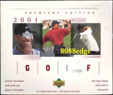 2001 UPPE DECK UD PGA GOLF FACTORY SEALED BOX - TIGER WOODS RC ROOKIE CARD AUTO
