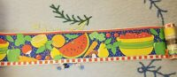 Mary Engelbreit Wallpaper Border Wallcovering Fruit New lot of 3 rolls RARE