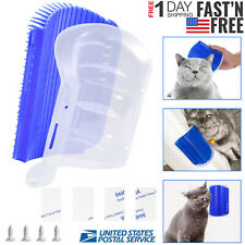 Wall Corner Self Groomer Cat Grooming Pet Massage Brush Comb With Catnip Pouch