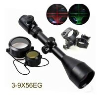 Tactical 3-9x56EG Red Green Mil Dot Air Rifle Gun Optics Hunting Scope Sight HOT