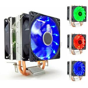 Dual Fan LED CPU Cooler Heatsink For Intel LGA 775/1156/1155 AMD AM3/AM4 Ryzen