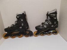 Mens Ultra Wheels Action Abec 3 Black Gray Inline Skates Sz 10