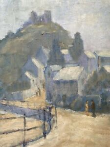BARBARA DOYLE (B.1917) ORIGINAL MODERN BRITISH OIL PAINTING - SOFT LANDSCAPE