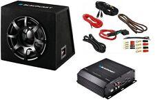 Blaupunkt GTB 1200 EMA 255 Subwoofer Box Max Power 850W + Verstärker + Kabelset