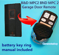 B&D MPC2 BND MPC 2 Garage Door Remote TX318 BND UHF Radio CONTROL-A-DOOR