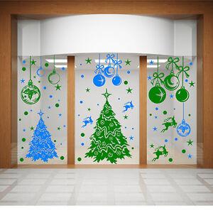 Noël Autocollant Mural Magasin fenêtre Arbre de N86