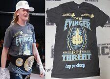 Tonya Evinger Signed Invicta FC 17 Fight Worn Used Walkout Shirt PSA/DNA MMA UFC