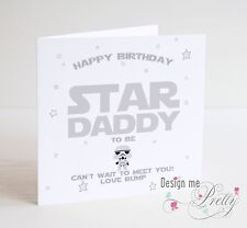 STAR WARS DADDY TO BE Birthday Card - New Dad Pregnant Baby Birth Son Daughter