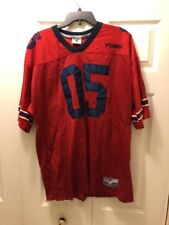 Men's FUBU 05 Limped Edition Football Jersey Size XL Red Blue