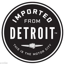 NEW CHRYSLER IMPORTED FROM DETROIT 3 INCH ROUND STICKER DECAL! MADE IN USA!