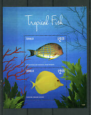 Tuvalu 2015 MNH Tropical Fish 2v S/S II Marine Fishes Cardinalfish Yellow Tang