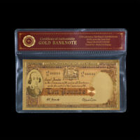 WR Banknote 1954 Australia 10 Pound Colour Gold Coombs Wilson Note In COA Sleeve