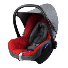 BAMBINIWELT Ersatzbezug 6tlg. Maxi-Cosi CABRIOFIX Babyschale MELIERT GRAU/ROT