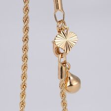 """9K 9ct Yellow """"GOLD FILLED"""" Ladies Charm ANKLE Rope CHAIN ,ANKLET 10.6"""" Gift"""
