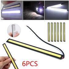 6X12V LED Car Interior White DRL COB Strip Lights Bar Lamp Car Van Caravan
