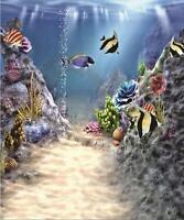 3D Ocean Fish tropical light Wallpaper Decal Decor Home Kids Nursery Mural  Home