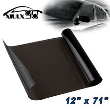 "1X Gloss Dark Black 12""x72""Headlight Taillight Fog Light Tint Film Vinyl Sheet"
