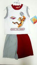 2 Piece Set Authentic Walt Disney Winnie the Pooh Top and Shorts 2 pc SET BOYS