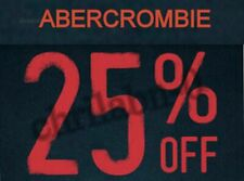 Abercrombie 25% off $75 coupon code sale clearance EXP 12/30