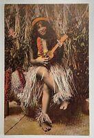 Early 1900s Territory Hawaii Postcard Native Hawaiian Hula Girl Island Curio Co