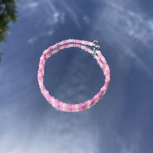6 Inch Handmade Pink, Pearl, Violet Seed Bead Bracelet.