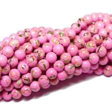 1 Strang #4905 BACATUS Phosphosiderit Perle Kugel lila 6-10 mm