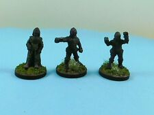 3 x Well Painted OOP Citadel Miniatures Dr Who Ice Warriors with Leader I