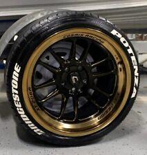 "Tyre Lettering (Permanent Raised Rubber Letters) - Bridgestone + Potenza 1"""