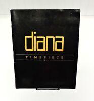 Diana Ross 1989 Timepiece Tour Concert Program w/ 2 Ticket Stubs