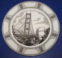 """222 FIFTH SLICE OF LIFE GOLDEN GATE BRIDGE MARLA SHEGA 10 1/2"""" DINNER PLATE"""