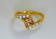 Solitaire with Accents Yellow Gold Filled Costume Rings