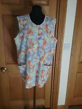 Ladies Vintage  Overall Pinny Blue 14/16 Sleeveless Tabard
