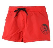 Mens Diesel Sandy E Boxer Swim Shorts Red Black S M L XL XXL