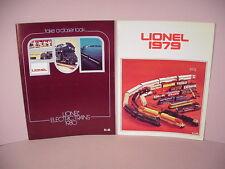 Lionel Trains Store Catalogs 1979 & 1980 Railroad 0 027 scale old stock  Lot # C