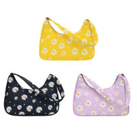 Women Flower Daisy Handbag Nylon Casual Small Underarm Shoulder Tote Bags