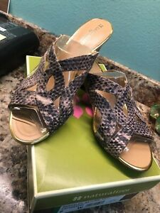 Naturalizer Berkeley Sandals 8 W Wide
