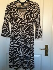 EN FOCUS Studio Animal Print Zebra Dress USA Size 6 Uk Size 10