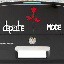 Set Groß Depeche Mode Exciter + Rose Aufkleber Auto Tattoo Deko Folie die cut