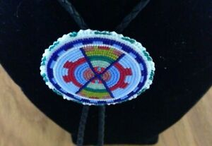 Native American Beaded Bolo Tie
