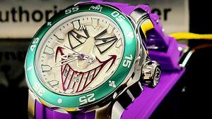 Invicta Men's 48mm DC Comics SCUBA JOKER Limited Edition Purple Tone SS Watch