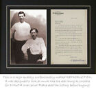 Bat Masterson signed letter and photograph (autograph) PROFESSIONALLY MATTED