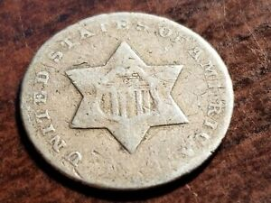 Dateless Three Cent Silver, odd denomination     L04     NL210
