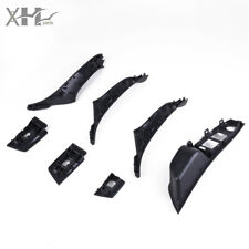 Black Door Handle Recessed Grip Switch Panel Set for BMW 520d 528i 530i 535i